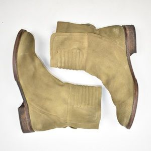 Free People Distressed Suede Split Ankle Boots